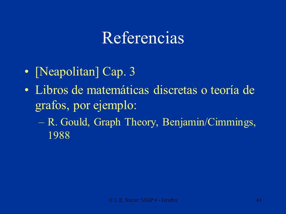 Referencias [Neapolitan] Cap. 3